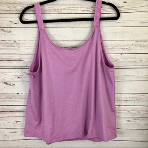 Puma light purple athletic tank top size large